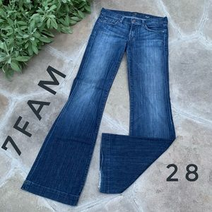 7 For all Mankind Dark Wash DOJO Jeans